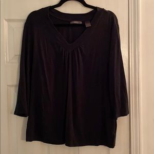 Liza Claiborne black v neck top